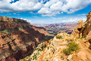 Фотография Америка Парк Горы Небо Пейзаж Гранд-Каньон парк Облачно Каньона