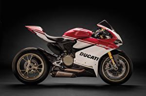 Картинка Ducati Сбоку 2016 1299 Panigale S Anniversario Мотоциклы
