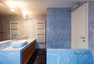 Обои Интерьер Дизайн Ванная Плитка Зеркало фото