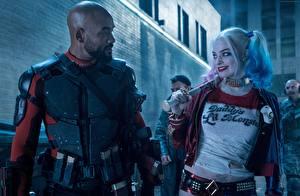 Обои Отряд самоубийц 2016 Харли Квинн герой Will Smith Двое Deadshot Фильмы Девушки Знаменитости фото