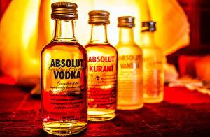 Картинки Напитки Водка Бутылка Absolut