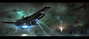 Обои Корабли Star Citizen Игры Фэнтези Космос фото