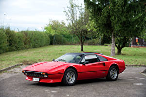 Фотография Феррари Стайлинг Ретро Pininfarina Красных Металлик 1982-85 308 GTS Quattrovalvole Worldwide автомобиль