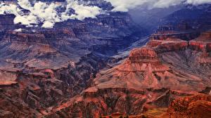 Фотография Штаты Парки Гора Гранд-Каньон парк Каньоны