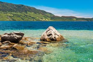 Фотографии Чили Море Камень Горы Conguillio National Park Природа