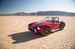 Обои SSC Винтаж Темно красный Кабриолет Металлик 1965 Cobra 427 авто