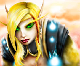World of WarCraft Эльфы Blood Elf Игры Девушки