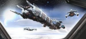 Обои Star Citizen Корабли Игры Фэнтези Космос фото