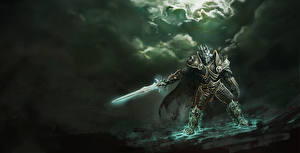Heroes of the Storm Diablo Воители Доспехи Мечи Arthas Игры