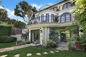 Обои США Дома Ландшафт Калифорния Особняк Дизайн Newport Beach Города фото