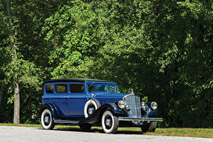 Фотографии Ретро Металлик Синих 1933 Pierce-Arrow Model 836 Enclosed Drive Limousine автомобиль