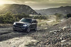 Фотография Land Rover Горы Черные Металлик 2014-16 Vorsteiner Автомобили