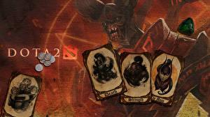 Обои DOTA 2 Воители Doom Dota 2 Демоны Invoker Магия Luna Phantom assassin mortred Игры Фэнтези фото