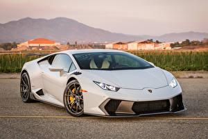 Картинка Lamborghini Тюнинг Белый 2016 Vorsteiner Huracan Novara Машины