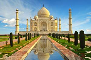 Картинка Тадж-Махал Индия Мечеть Agra India Uttar Pradesh