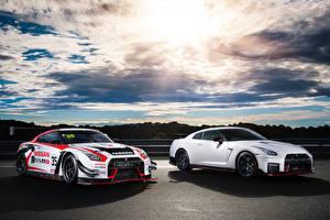 Картинка Nissan Стайлинг Небо Два Белая GT-R Автомобили