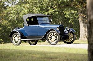 Фотография Старинные Синий Родстер 1917 Chalmers Model 6-30 Roadster Машины