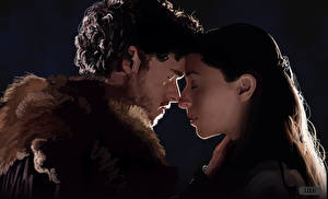 Фото Игра престолов (телесериал) Двое Robb Stark, Talisa Maegyr Девушки