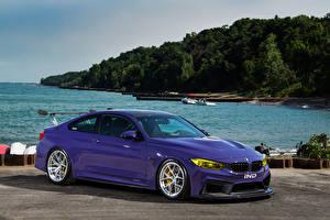 Фотографии BMW Тюнинг Фиолетовый Металлик 2015-16 IND M4 Coupe Автомобили