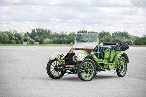 Картинка Ретро Салатовая Металлик 1911 Chalmers Thirty Pony Tonneau Автомобили