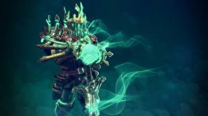 Обои DOTA 2 Wraith King Воители Магия Нежить Доспехи Игры Фэнтези фото