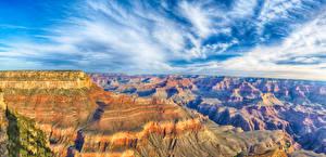 Обои для рабочего стола Штаты Пейзаж Гора Парки Небо Гранд-Каньон парк Каньон Природа