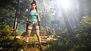 Фотография Tomb Raider Tomb Raider Anniversary Лара Крофт компьютерная игра Девушки 3D_Графика
