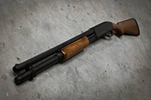 Обои Ружьё Крупным планом Remington 870 Армия фото