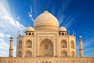 Обои Тадж-Махал Индия Мечеть Agra India Uttar Pradesh