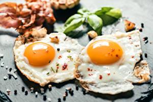 Обои Яичница Двое Завтрак Еда фото