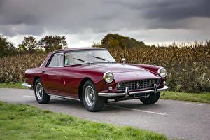 Картинки Ferrari Тюнинг Ретро Pininfarina Бордовые Металлик 1958-60 250 GT Coupe Автомобили