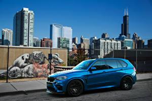 Фотография БМВ Голубые Металлик 2015-16 IND BMW X5 M авто