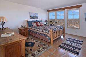 Обои Интерьер Дизайн Спальня Кровать Ковер Комната фото