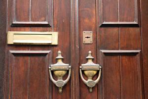 Обои Деревянный Дверь