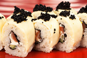 Обои Морепродукты Суши Икра Еда фото