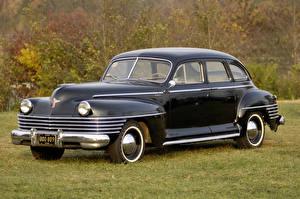 Обои Chrysler Винтаж Черный Седан 1942 New Yorker 4-door Sedan Автомобили