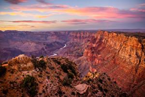 Фотографии США Парк Пейзаж Небо Гранд-Каньон парк Каньона Природа