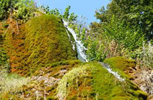 Обои Германия Водопады Мох Uxheim Природа фото