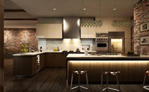 Обои Интерьер Дизайн Кухня Потолок Стол фото