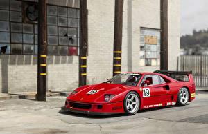 Обои Тюнинг Ferrari Ретро Pininfarina Красных Металлик 1988-94 F40 LM by Michelotto авто