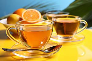 Обои Чай Чашка Блюдце Ложка