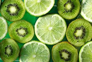 Обои Текстура Киви Лайм Зеленый Пища