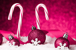 Обои Праздники Новый год Шарики Снежинки Бордовый фото