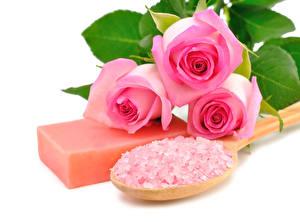 Обои Роза Мыло Розовых Соль Физиотерапия цветок