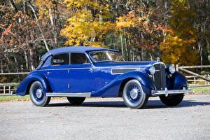 Фотография Maybach Ретро Металлик Синие 1938-41 SW38 Cabriolet Автомобили