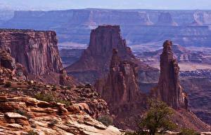Фотография США Парки Горы Утес Каньоны Mesa Arch Canyonlands Природа