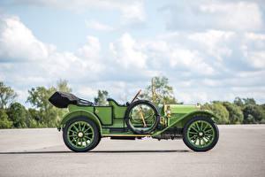 Фото Ретро Салатовый Сбоку 1911 Chalmers Thirty Pony Tonneau Автомобили