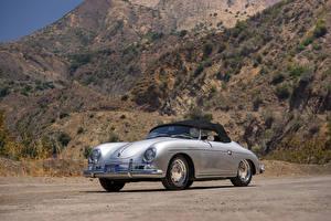 Фотография Porsche Ретро Серебристый 1958-59 356A 1600 Super Speedster by Reutter Автомобили