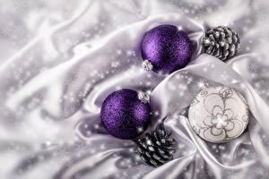 Обои Праздники Рождество Шар Шишки