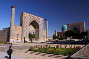 Фото Храм Колонна Uzbekistan Samarkand город